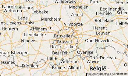 Map of Brussels Capital