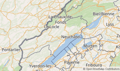 La Chaux-de-Fonds Map