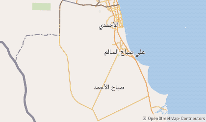 Map of Al Ahmadi