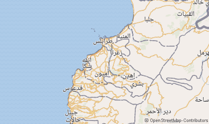 Map of Liban-Nord