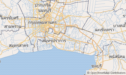 Map of Samut Prakan