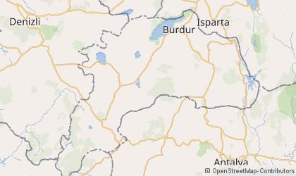 Burdur Map